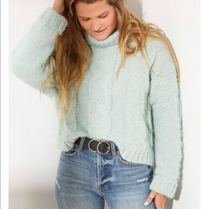 Adyson Parker Cable Knit Eyelash Sweater